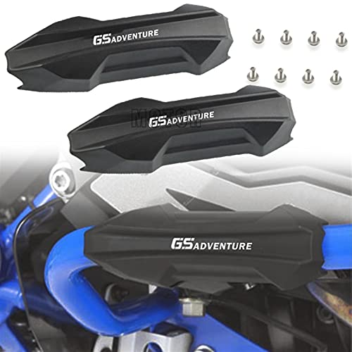 XWSQ Motorcycle 25mm Crash Bar Bumper Engine Guard Protection Decorative FOR BMW F 650 700 800 GS Adventure R 1200 1250 1150 GS ADV (Color : GS Adventure LOGO)