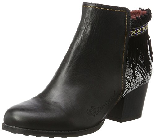 Desigual Shoes_Country Exotic Black, Botas Chelsea para Mujer, Negro, 37 EU