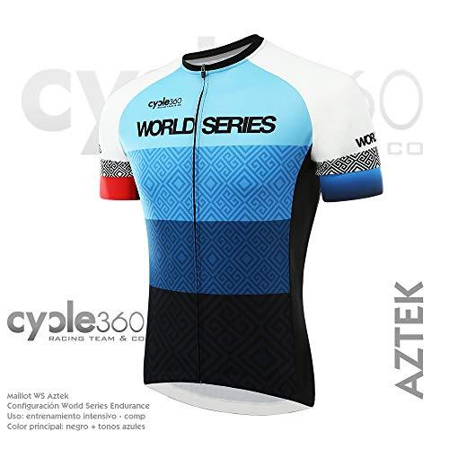 Maillot Ciclismo Manga Corta, Tope de Gama Cycle World Series Endurance. Mod. Aztek Talla M