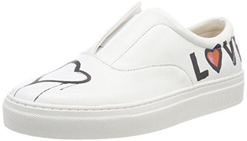 Liebeskind Berlin Damen LF183780 Goat Slip On Sneaker, Weiß (White), 37 EU