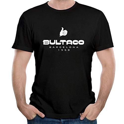 WEIQIQQ Hombre Bultaco Logo 1958 Gift Short Sleeved Camiseta/T-Shirt