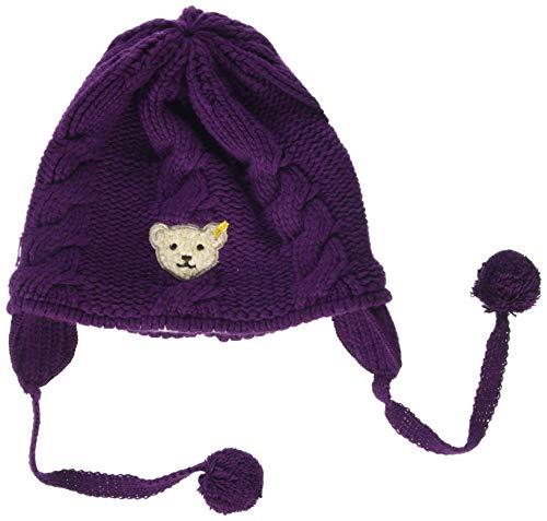 Steiff Baby-Mädchen Strick Mütze, Violett (Pickled Beet Purple 7044), 45