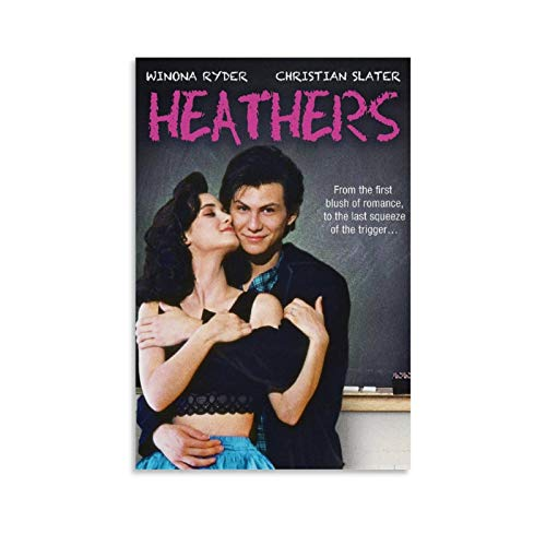 QASD Heathers Movie Poster Winona Ryder and Christian Slater Poster Decorative Painting Canvas Wall Art Living Room Posters Bedroom Painting 16x24inch(40x60cm)