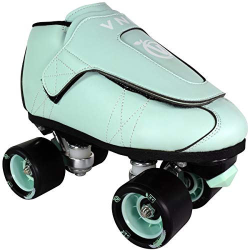 VNLA Mint Jam Skates | Quad Roller Skates from Vanilla - Indoor speed skates - Leather - for Tricks and Rhythm skating (Mint Green)