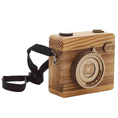 LHJCN Caja de música: Caja de música Vintage grabada de Madera, Regalos para mi Hija de mamá para tamaño: Aprox.9. 9 * 3. 8 * 9. 2 cm (Longitud del cordón 40 cm)
