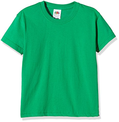 Fruit of the Loom Jungen Valueweight Short Sleeve T-Shirt, Kelly Green, 10-11 Jahre