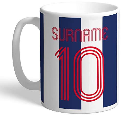 Personalised West Bromwich Albion Retro Shirt Mug