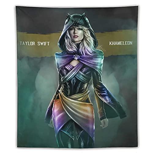 Célèbre Idole Taylor-swift Cosplay Mortal Kombat, tapisserie murale à suspendre sur le thème des jeux Décoration murale pour salle de jeux