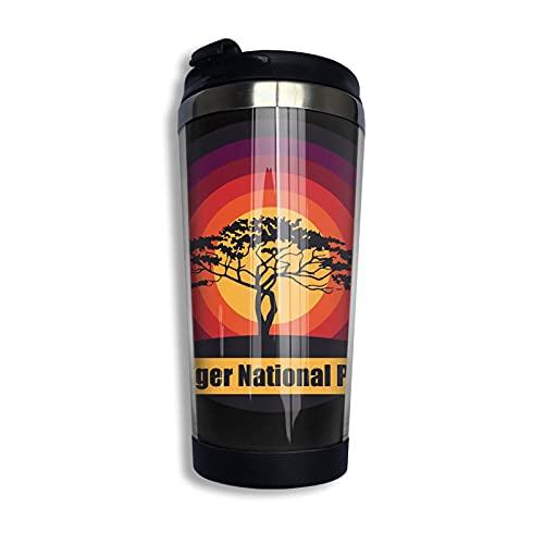 Tazas térmicas Kruger National Park - South Africa Pullover Sweat Taza de café de viaje y taza de té termo al vacío de acero inoxidable 400ml