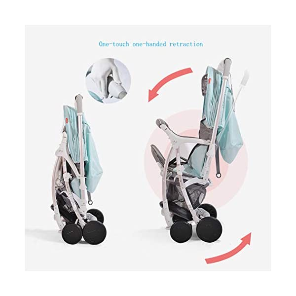 RAPLANC High Landscape Stroller, Lightweight Foldable, 4Seasons Universal, Stereo Shock Absorber, 360-Degree Rotation Function, Color : Green,Black RAPLANC * stereo shock absorber frame structure to prevent your baby from receiving shocks *Widened and extended sleeping basket, spacious, baby activities freely *Four seasons universal /increased storage basket / five-point seat belt 4