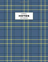 Cornell Notes Notebook: Note Taking with Graph Paper Quad Grid, Index and Numbered Pages, Plaid