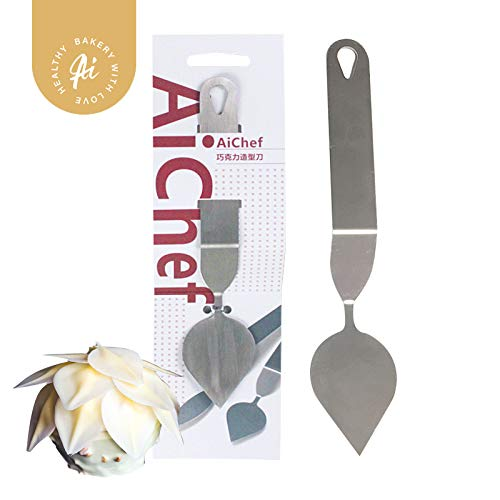 AiChef Chocolate Mold Leaf Feather Knife Mousse Cake Baking Tool Stainless steel Large leaf knife round leaf