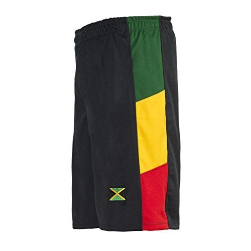 JL Sport Pantalones Holgados Negro Gimnasio Deportes Baloncesto Boxeo Bermuda Beach Camisetas De Reggae - M