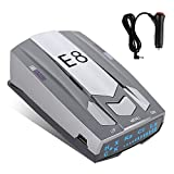 Radar Detector for Cars, Laser Radar Detectors Voice Alert and Vehicle Speed Alarm System City/Highway Mode LED Display and Car 360 Degree Automatic Detection