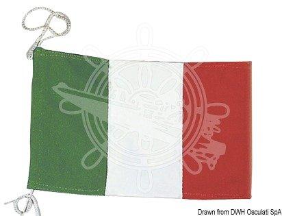 GUAIMI Bandiera italiana con Regolabile Asta da Bandiera Moto 5,5 x 9 pollici per H-onda GL1800 GL1500 G-oldwing
