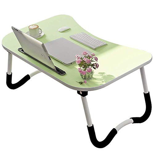 Laptopbed tafel ronde staande tafel voor bed en bank ontbijt bed laptop ronde bureau klap ontbijt serveren koffie dienblad notebook staander leeshouder voor bank vloer kinderen groen
