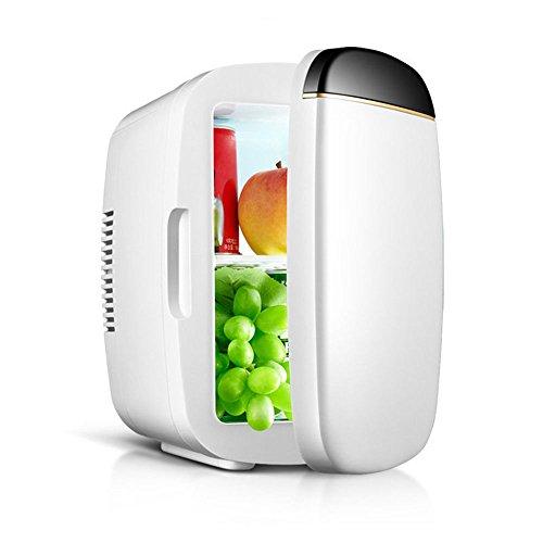 Li@ 6L Voiture boîte Froide Mini frigo Voiture Double Usage Eau réfrigérée Boisson dortoir Portable réfrigérateur (Couleur : Blanc)