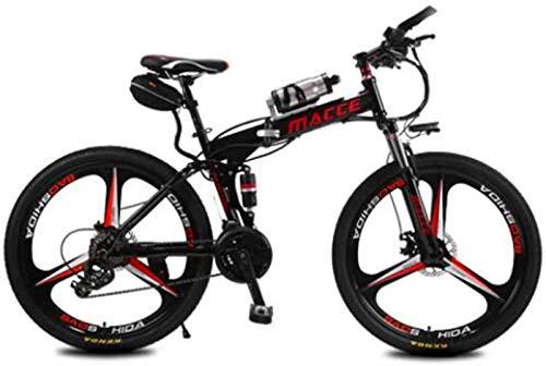 RDJM Bici electrica, Bicicleta eléctrica Plegable de la batería de Litio de...