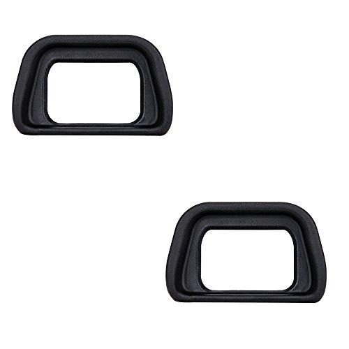 2 Pack JJC Soft Viewfinder Eyecup Eyepiece Eye Cup for Sony A6300 A6100 A6000 NEX-6 NEX-7 Cameras and FDA-EV2S Electronic Viewfinder,Replaces Sony FDA-EP10 Eyecup Eyepiece