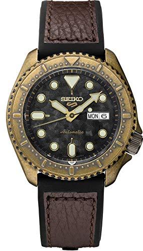 Seiko Reloj analógico para Hombre de Automático con Correa en Silicona SRPE80