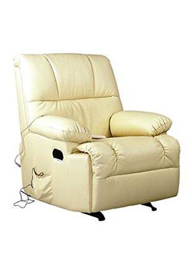JRD Sillón de Masaje y Relax con Calor Lumbar Irene (Beige)