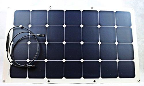 Sunline Solartechnik GmbH 80 Watt Solarmodul flexibel Monokristallin 12V Solarpanel Solarzelle 80W