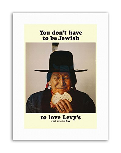 Wee Blue Coo Food LEVY RYE Bread Native American Jewish Poster Canvas Art Prints