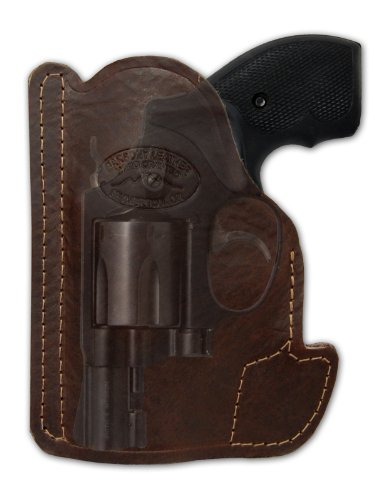 Barsony Brown Leather Gun Concealment Pocket Holster for Taurus 605 650 CIA