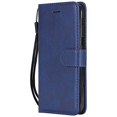 DENDICO Cover Galaxy A5 2017, Premium Portafoglio PU Custodia in Pelle, Flip Libro TPU Bumper Caso per Samsung Galaxy A5 2017 - Blu Navy