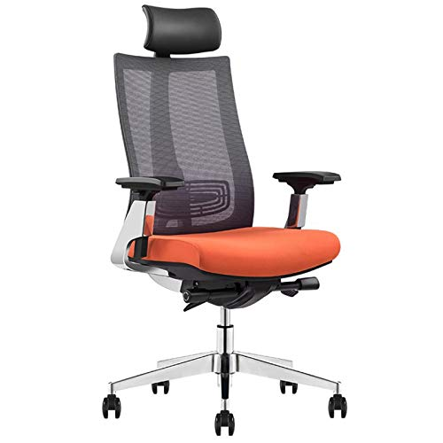 PPOSH Ergonomic Chair Computer Chair, Comfortable Backrest Boss Chair, Home Office Chair With Adjustable Arms And Waist Support Headrest (Color : Black)