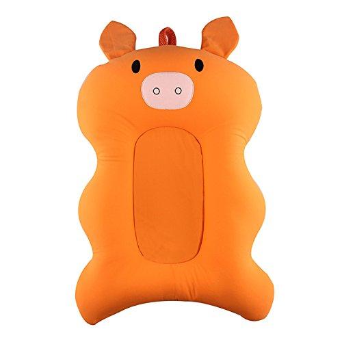 Lulalula - Cuscino da bagno per neonato, comodo cuscino per vasca da bagno, morbido e antiscivolo, per bambini da 0 a 6 mesi
