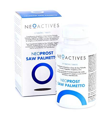 Neoprost Saw Palmetto | Complemento Alimenticio con Serenoa Repens, Extracto de Ortigas, Semillas de Calabaza, Soja y otros ingredientes naturales | Ayuda a regular la actividad hormonal (30)