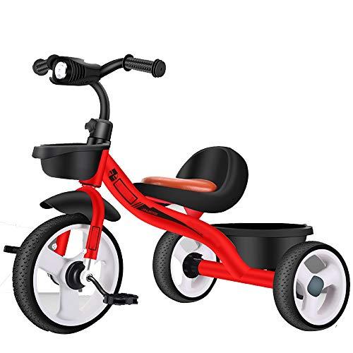 Axdwfd Infantiles Bicicletas Tricicli per Bambini Marco De Acero De Alto Carbón,Tricicli per Bambini 50 Kg, La Rueda De Formación De Espuma, Triciclo bebé For Niños De 1-6 Años De Edad