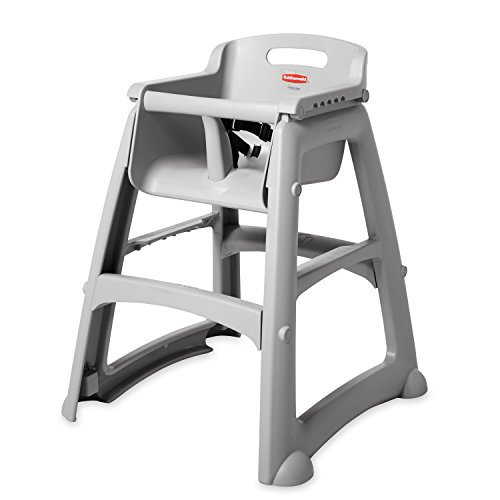 Rubbermaid Commercial Products Sturdy High-Chair for Child/Baby/Toddler, Unassembled, Platinum (FG781408PLAT)