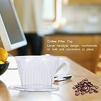 HelloCreate コーヒーフィルターカップ コーン型 コーヒーメーカー フィルターカップ ドリッパー 再利用可能 流し込み マグカップ