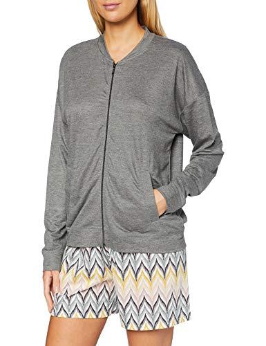 CALIDA Damen Favourites Lounge Jacke 1 Pyjamaoberteil, Urban Grey Mele, 44-46
