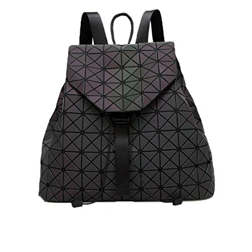 Bright Backpack Bag Lattice Bag Women Men Women Backpack For Travel Girl School Bag For Student Backpack Hologram