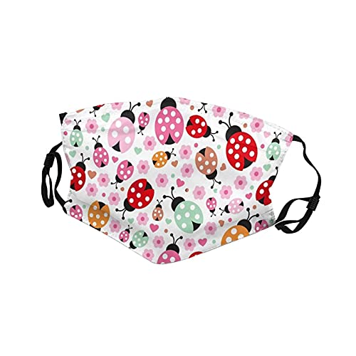 Miraculous Cover Ladybug Face Mouth Washable Outdoor Daily Face Cover Personalized for kids,Black,1 Pcs