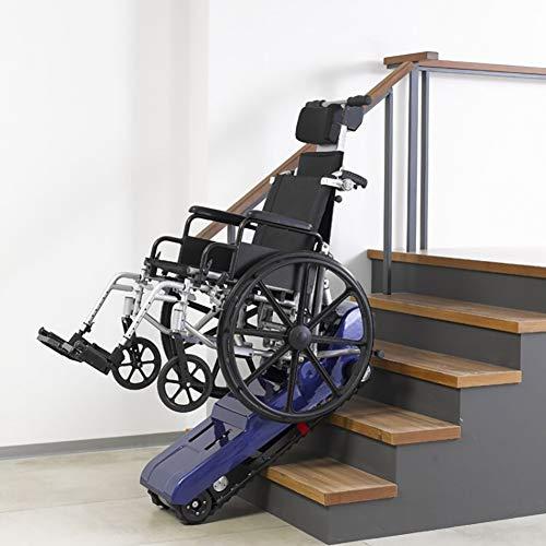 Silla de Ruedas Eléctrica para Subir Escaleras Silla de Ruedas Eléctrica para Subir Escaleras Silla de Ruedas para Subir Escaleras Azul