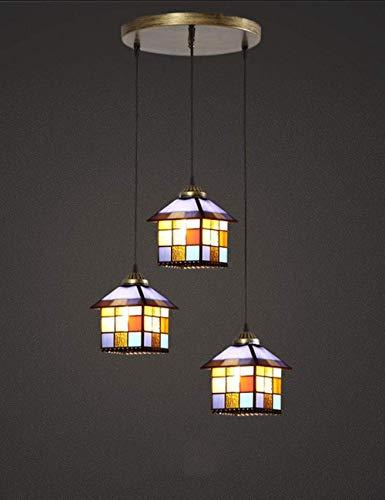 Lámpara de araña para salón, dormitorio, comedor, bar, cafetería, tienda, iluminación retro creativa, pasillo, balcón (tamaño: A)