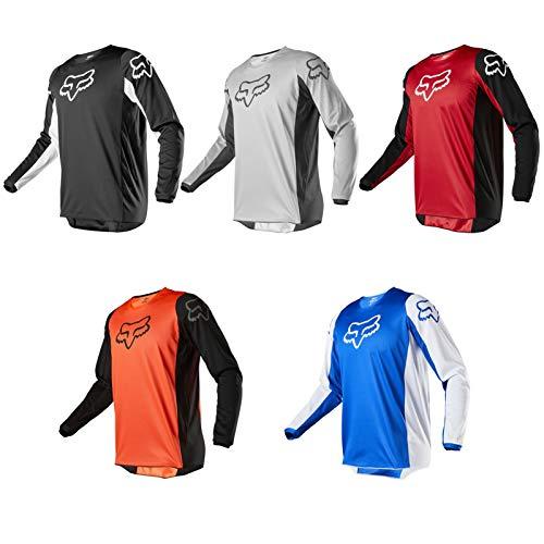 Men Motocross Cycling Racing Jersey Dirt Bike Riding Apparel MTB Bike Racing Shirt Motorcycle Racewear (Blue,XL)