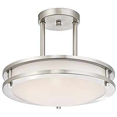 Westinghouse Dimmable LED Indoor Semi-Flush Mount Ceiling Fixture