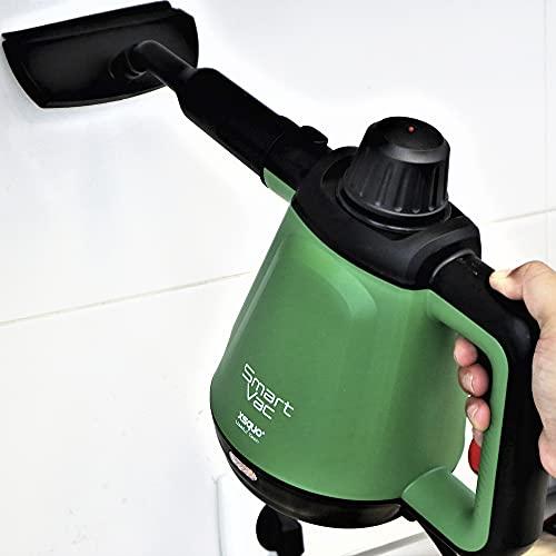 Vaporeta limpiadora de vapor con 6 funciones diseño 2 en 1 de manos y suelo, 1200w, 3,5 bares y 40 g/min de vapor continuo. Smart Vac