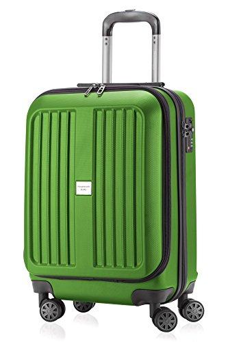 HAUPTSTADTKOFFER X-Berg - Maleta a Mano Rígida, Tamaño 55 cm, 42 litros, TSA, Color Verde Bosque Brillante