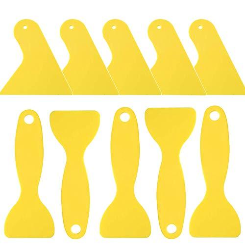 KA MAI KA 10 stuks lijm spreader plastic schrapers auto body filler spreader drywall scrapers squeegee ideaal voor window tint wallpaper Install Decal verwijderen