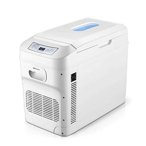 Mini Nevera Mini Refrigerador Frigorífico de coches 28 litros Mini refrigerador de coches Refrigerador Vehículo portátil Camping Frigorífico Refrigerador eléctrico Calentador para alimentos para el cu