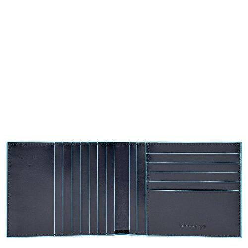 Piquadro Blue Square Portamonete con 12 Alloggiamenti per Carte di Credito, 12 cm, 0.43 litri, Blu Notte