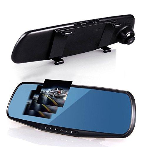 vetrineinrete® Specchietto retrovisore per Auto con Telecamera Integrata Che registra Il Percorso E5