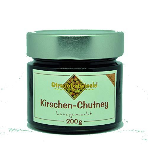 Streuobstwiesle Kirschen Chutney - 200 g - Herzhafte, aromatische Sauce zum Grillen, zum Fondue, zum Raclette, zum Kase, zum Reis...