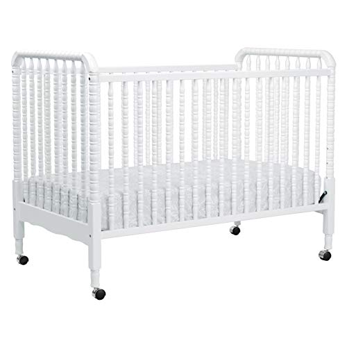 DaVinci Jenny Lind 3-in-1 Convertible Portable Crib in White - 4 Adjustable Mattress Positions,...